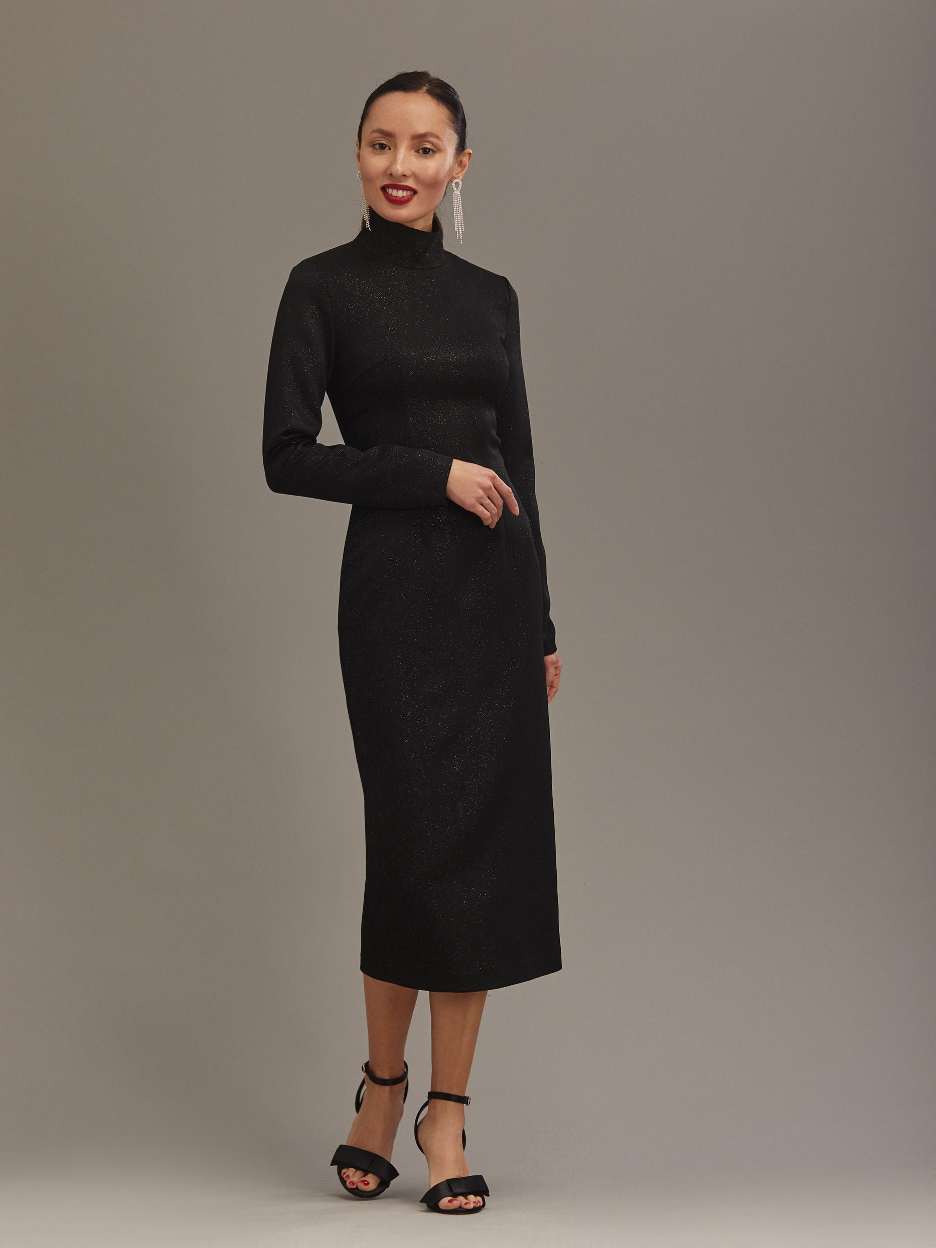 Трикотажное платье с мерцающим эффектом фото