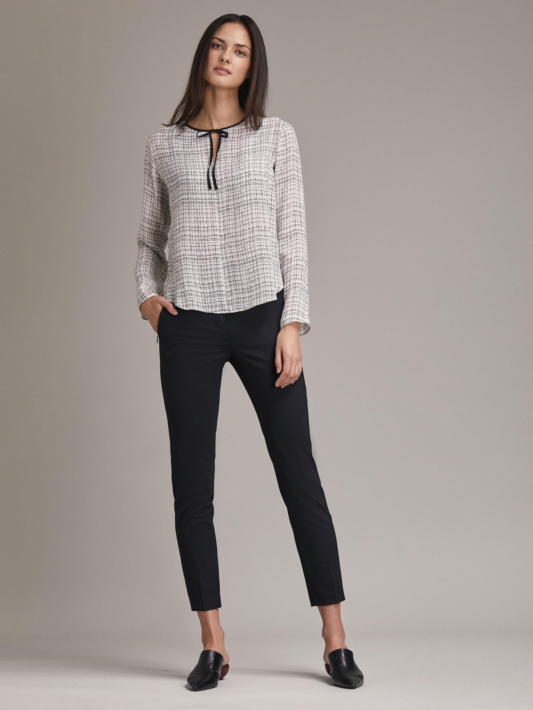 Блуза с завязками фото