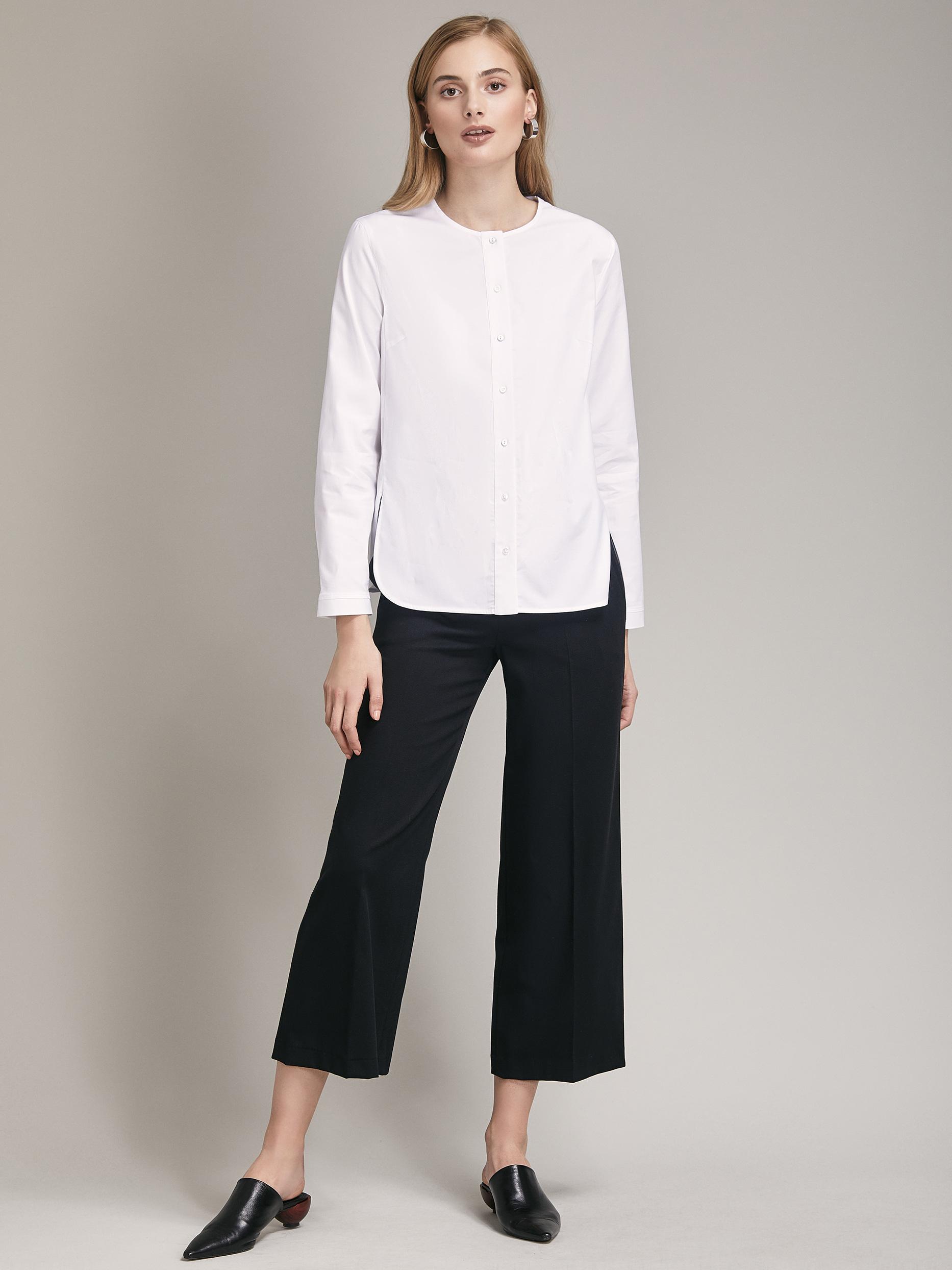 Прямая блуза из хлопка фото