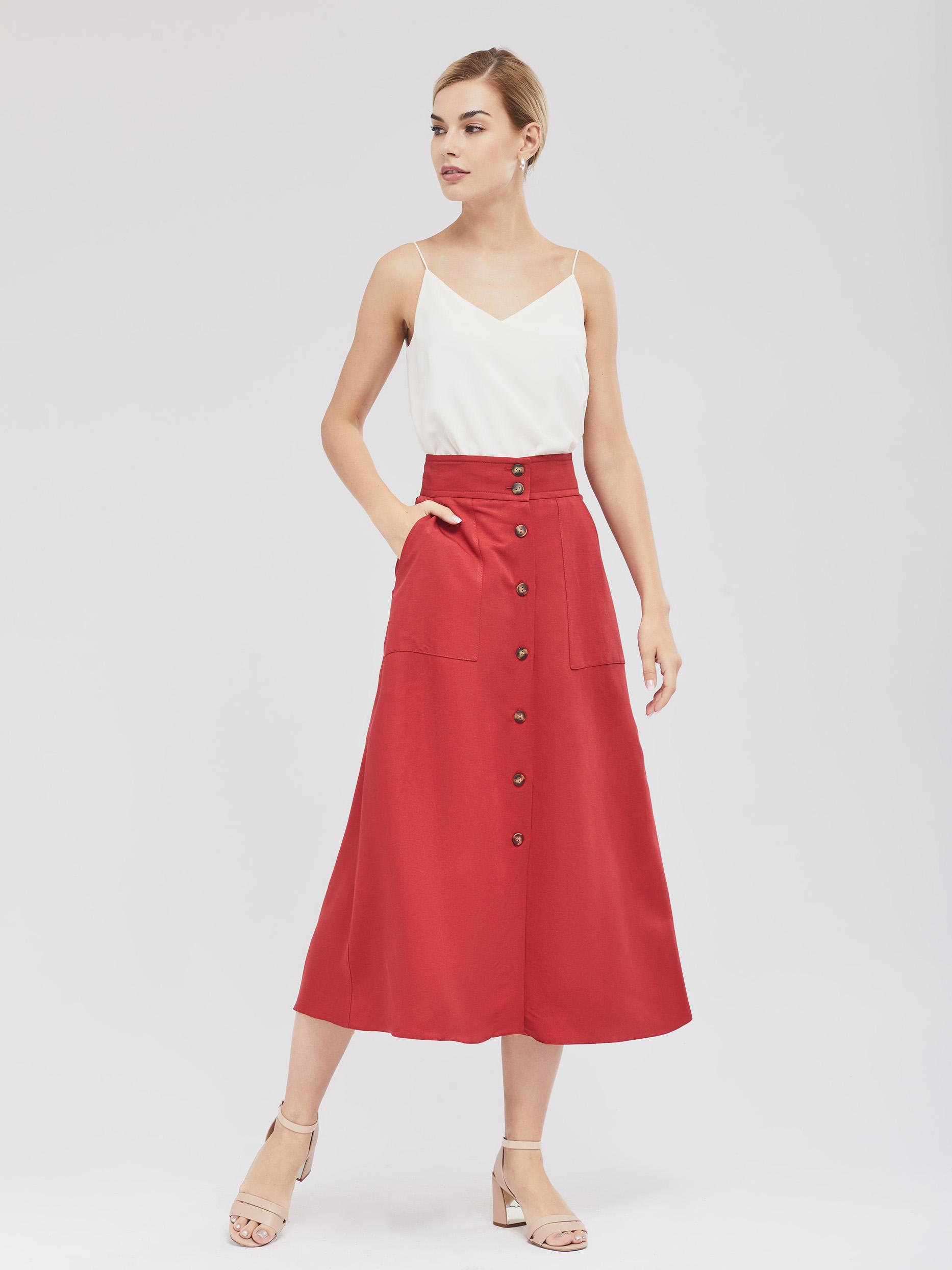 Льняная юбка фото