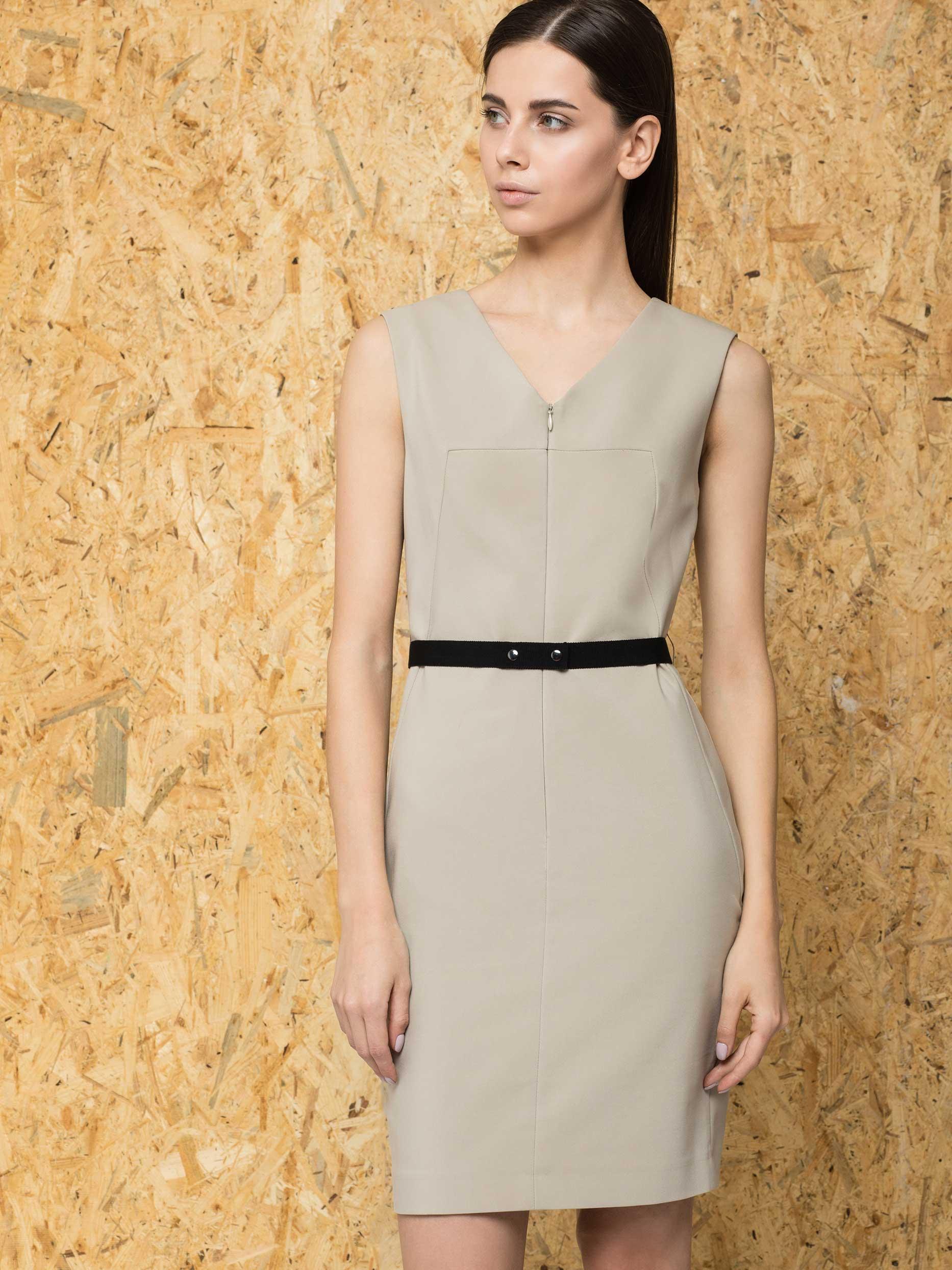 Платье-футляр с поясом фото