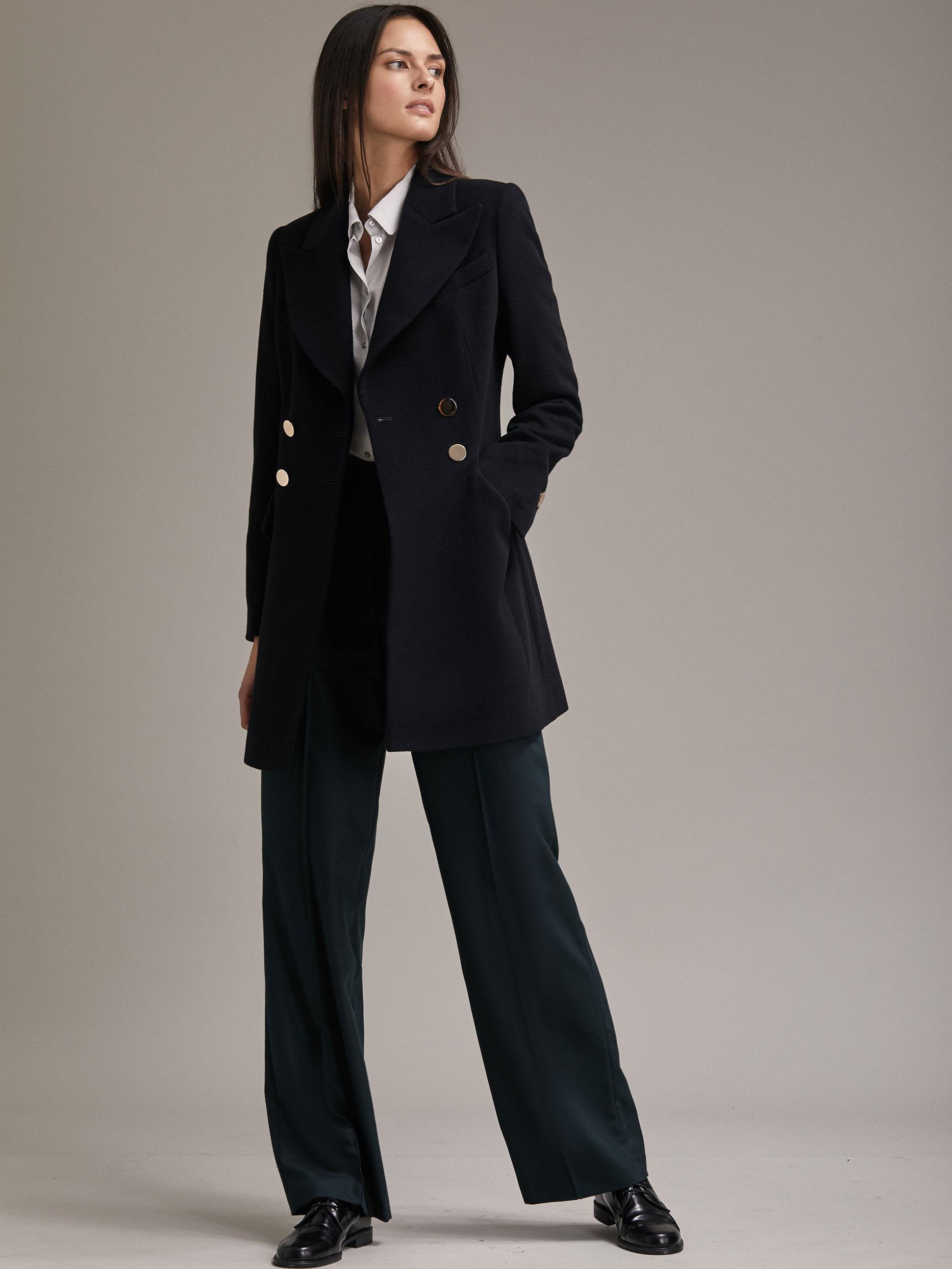 Классическое пальто облегающего силуэта фото