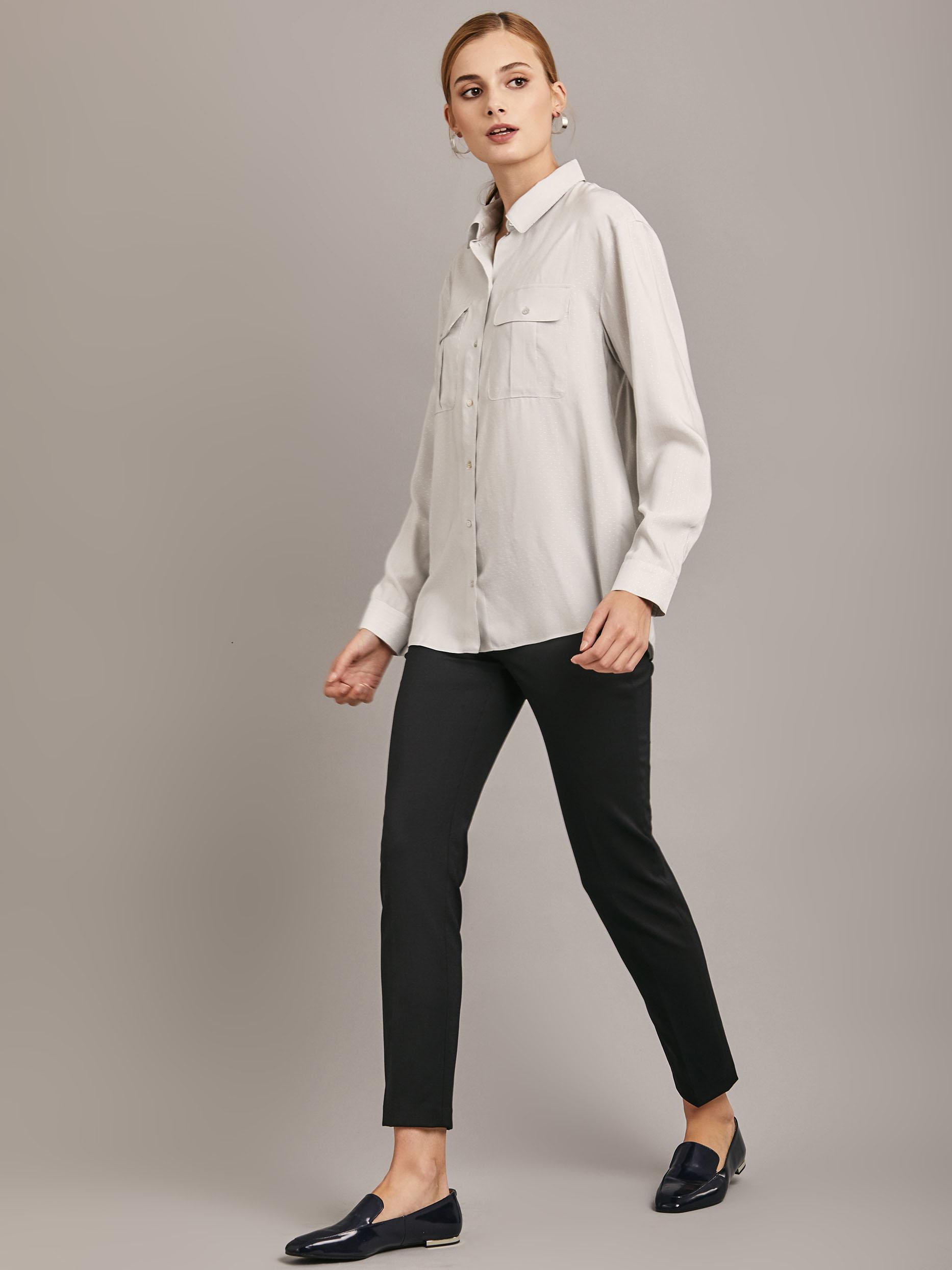 Блуза рубашечного кроя фото