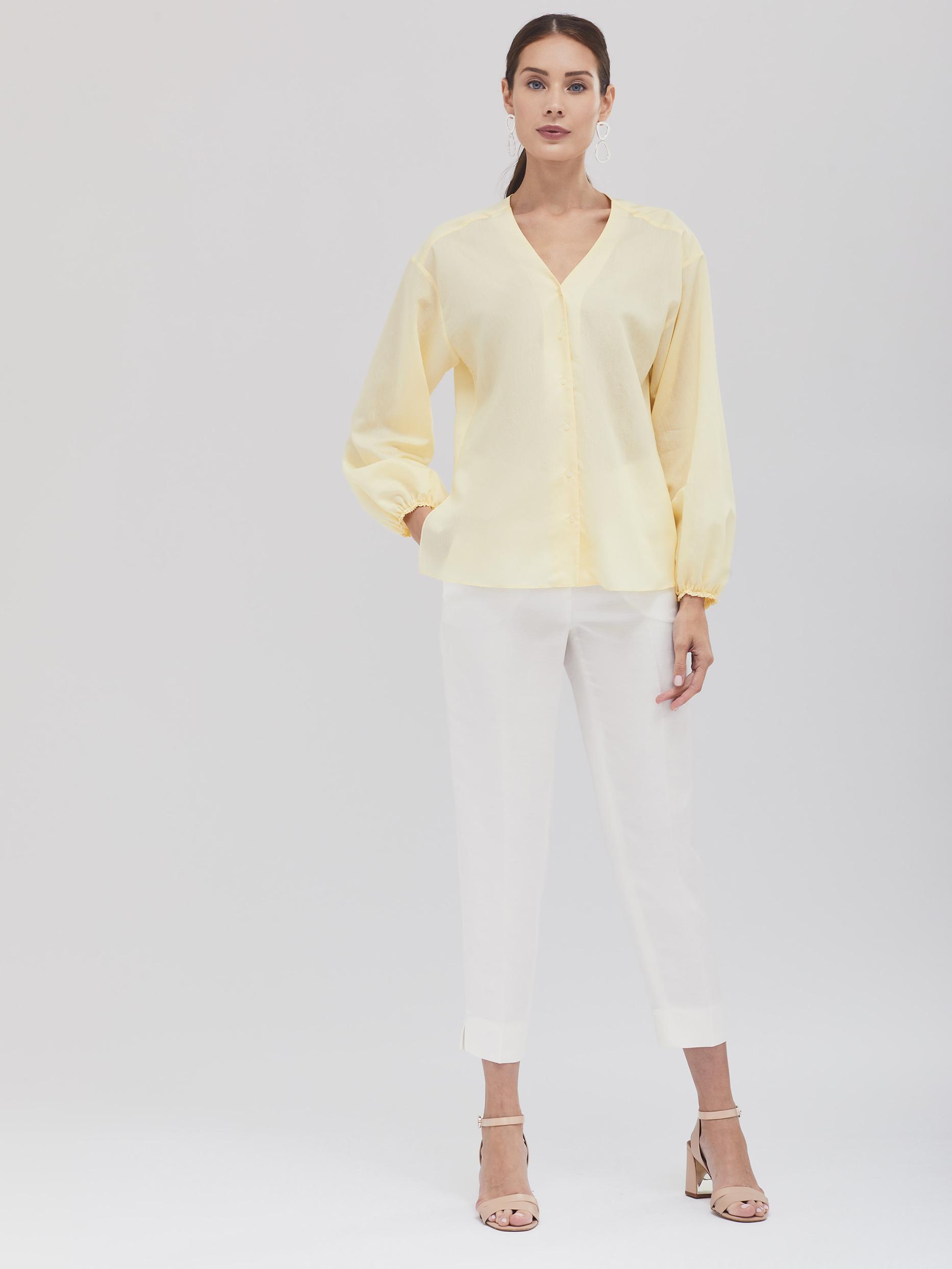 Блуза с объёмными рукавами фото