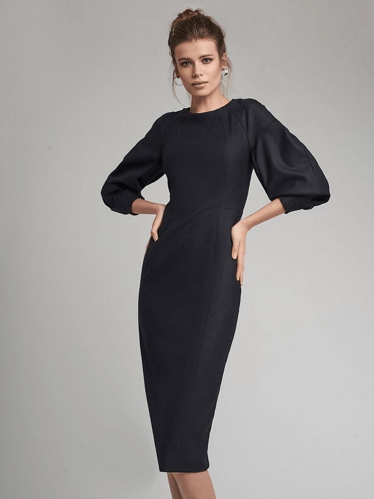 Платье-футляр с объемными рукавами Charuel