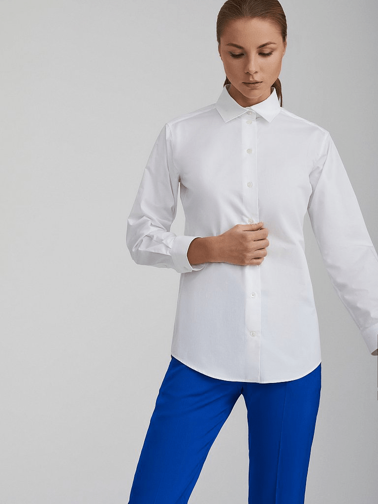 Белая рубашка из хлопка Charuel